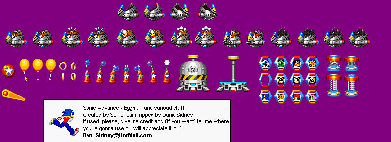 The Sprite Cemetery The People S Sprites Sonic The Hedgehog Annex Dr Eggman Robotnik Sonic Advance